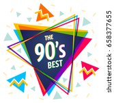 vector vintage pyramid in 90's... | Shutterstock .eps vector #658377655
