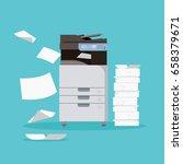 multifunction printer scanner....   Shutterstock .eps vector #658379671
