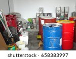 hazardous waste of rad tank oil ... | Shutterstock . vector #658383997
