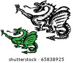 dragon | Shutterstock .eps vector #65838925