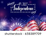 4th of july  american... | Shutterstock .eps vector #658389709