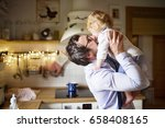 businessman coming home from... | Shutterstock . vector #658408165