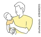 happy father's day when daddy...   Shutterstock .eps vector #658408201