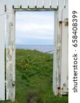 doorway at the lighthouse on...   Shutterstock . vector #658408399