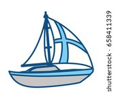 sail boat isolated | Shutterstock .eps vector #658411339