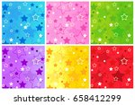 colorful stars background... | Shutterstock .eps vector #658412299