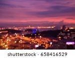 abstract urban night light...   Shutterstock . vector #658416529