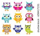 cute owl illustration for any...   Shutterstock .eps vector #658417231