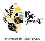 advertising template with... | Shutterstock .eps vector #658419301