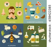 allergy symptoms and treatment... | Shutterstock . vector #658422385