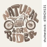 cool motorcycle print design ... | Shutterstock .eps vector #658424131
