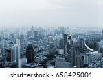 bangkok cityscape. high view of ... | Shutterstock . vector #658425001