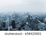 bangkok cityscape. high view of ... | Shutterstock . vector #658425001