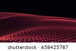 abstract polygonal space low... | Shutterstock . vector #658425787