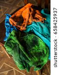 pile of colorful dirty rags... | Shutterstock . vector #658425937