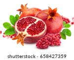 pomegranate isolated. group of... | Shutterstock . vector #658427359