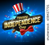happy independence day party... | Shutterstock .eps vector #658427731