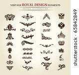 luxury vintage logo set.... | Shutterstock .eps vector #65842849