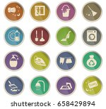 cleaning company vector icons... | Shutterstock .eps vector #658429894