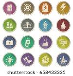 alternative energy vector icons ... | Shutterstock .eps vector #658433335