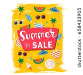 summer sale banner design... | Shutterstock .eps vector #658433905