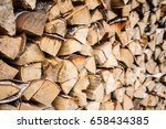 Pile Firewood Prepared For...