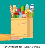 paper shopping bag full of... | Shutterstock .eps vector #658434481