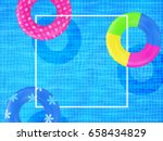 swim rings on swimming pool... | Shutterstock .eps vector #658434829
