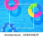 swim rings on swimming pool... | Shutterstock .eps vector #658434829