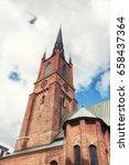 the riddarholm church  swedish  ... | Shutterstock . vector #658437364
