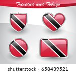 glossy trinidad and tobago flag ... | Shutterstock .eps vector #658439521