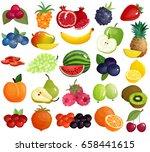 fresh seasonal farmer market... | Shutterstock .eps vector #658441615