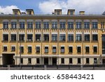 vintage architecture classical... | Shutterstock . vector #658443421