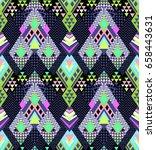 abstract geo zigzag design in... | Shutterstock .eps vector #658443631