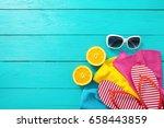 summer fun. fruits and...   Shutterstock . vector #658443859