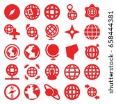 geography icons set. set of 25... | Shutterstock .eps vector #658444381