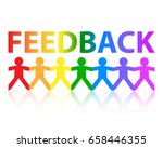 feedback cut out paper people... | Shutterstock .eps vector #658446355