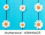 white chamomile flowers pattern ... | Shutterstock . vector #658446625