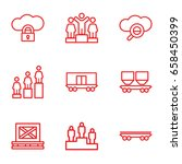 platform icons set. set of 9... | Shutterstock .eps vector #658450399