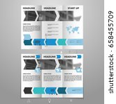 blue geometry brochure design... | Shutterstock .eps vector #658455709