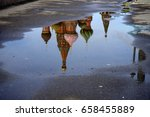st basil's cathedral reflected...   Shutterstock . vector #658455889