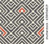 wicker seamless pattern on... | Shutterstock .eps vector #658456819