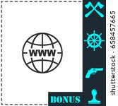 world wide web icon flat.... | Shutterstock .eps vector #658457665
