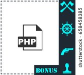 php file icon flat. simple... | Shutterstock .eps vector #658458385