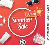 illustration of summer sale...   Shutterstock .eps vector #658461295