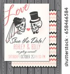 bridal shower invitation with... | Shutterstock .eps vector #658466584