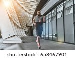 pushing himself to the limit.... | Shutterstock . vector #658467901
