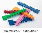 dental orthodontic multicolored ...   Shutterstock . vector #658468537