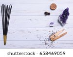 composition of esoteric objects ...   Shutterstock . vector #658469059