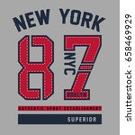 new york  brooklyn college... | Shutterstock .eps vector #658469929
